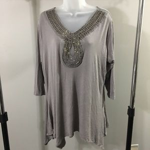 CYNTHIA ROWLEY | long sleeve too with sequins